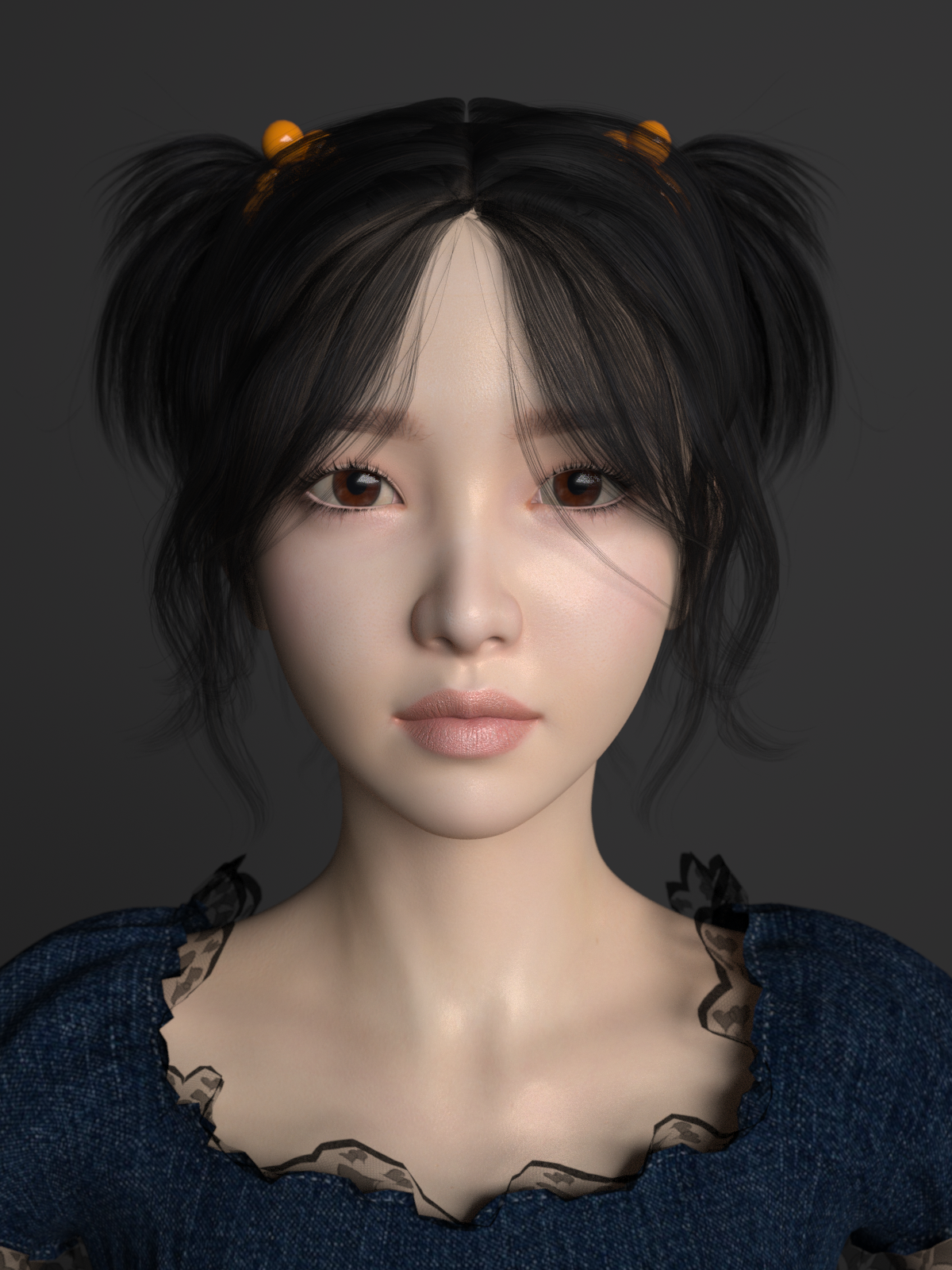 3D Asian Girl asian beautiful girl 3d model in woman 3dexport