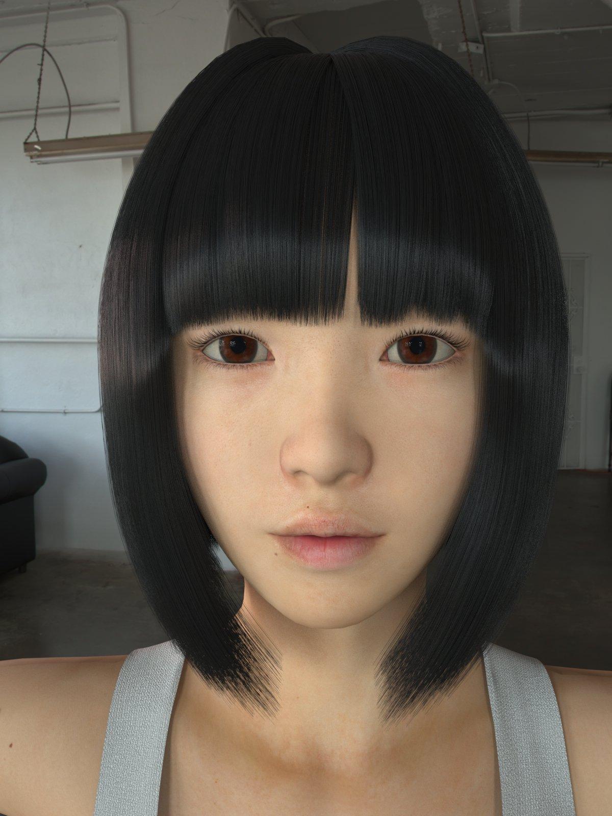 3D Asian Girl asian girl wear casual clothes 3d model in woman 3dexport