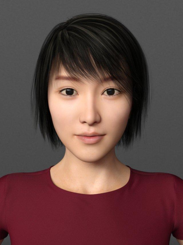 Short Hair Asian Woman D Model In Woman DExport - Short hair on asian