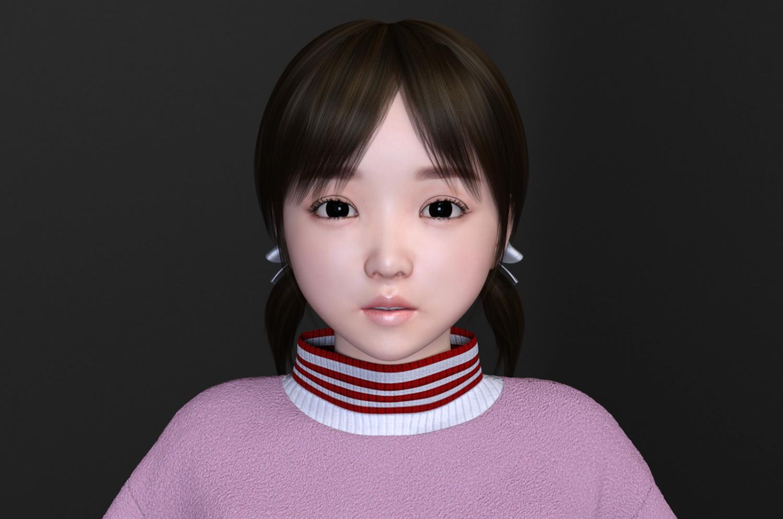 3D Asian Girl asian cute girl 3d model in child 3dexport