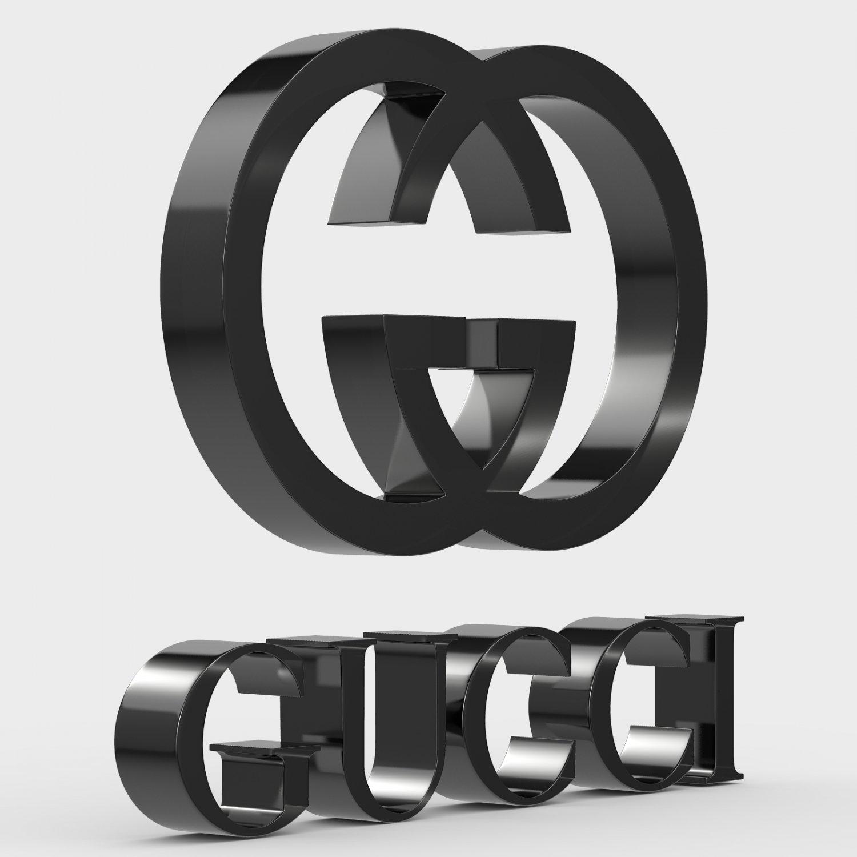 Gucci Logo 3d In 3dexport