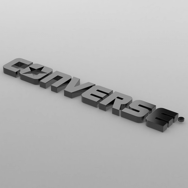 e93760163809ff Converse logo 3D Model in Clothing 3DExport