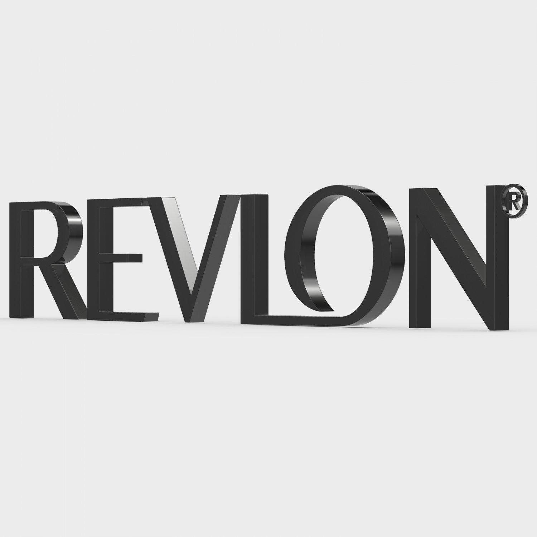 revlon logo 3d model in other 3dexport rh 3dexport com revlon logo 2017 revlon logo font