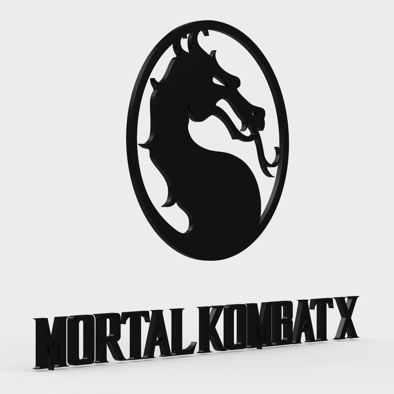 Mortal Kombat X Logo 3d In 3dexport