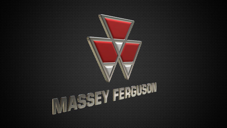 massey ferguson logo 3d model in heavy equipment 3dexport