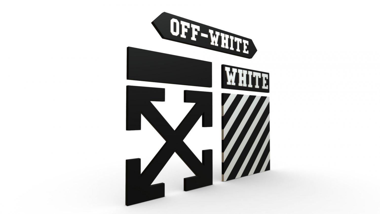 Off white logo 3D Model in Other 3DExport
