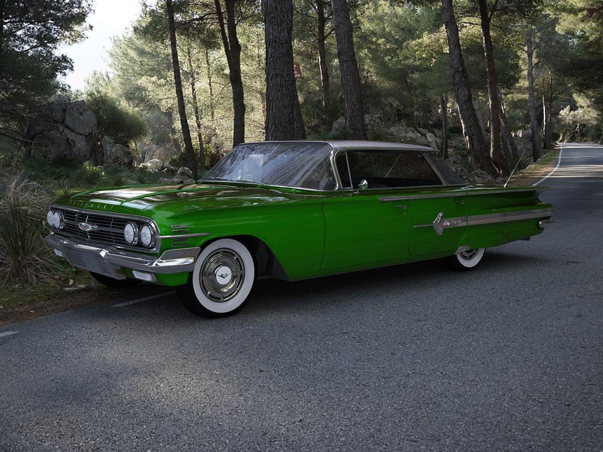 Chevrolet Impala Sport Sedan 1960 3d Model In Classic Cars 3dexport