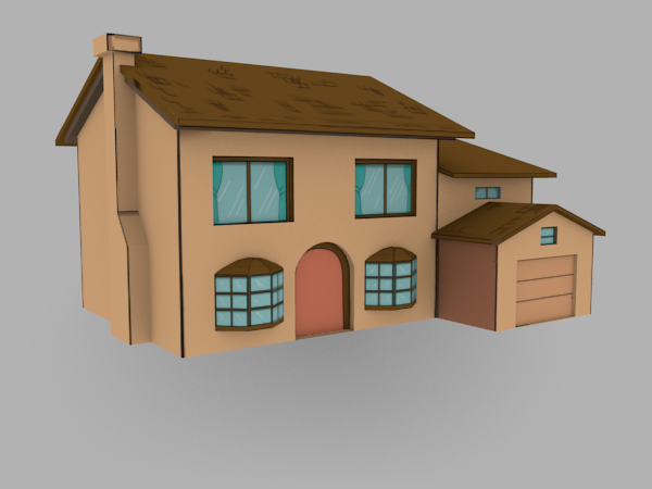 Exceptional Simpsons House 3D Model