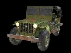 Russian Military Jeep 3D Modell