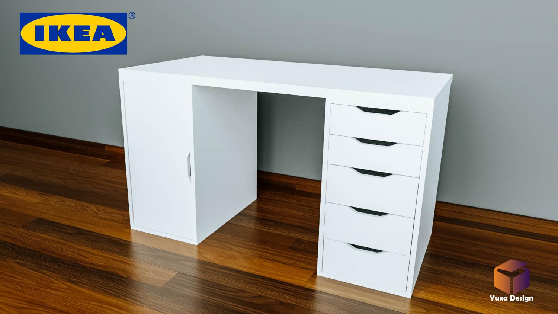 ikea gustav schreibtisch. Black Bedroom Furniture Sets. Home Design Ideas
