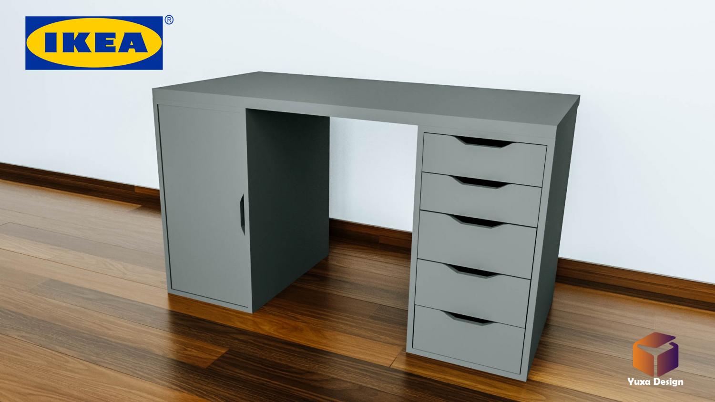 ikea schreibtisch gustav. Black Bedroom Furniture Sets. Home Design Ideas