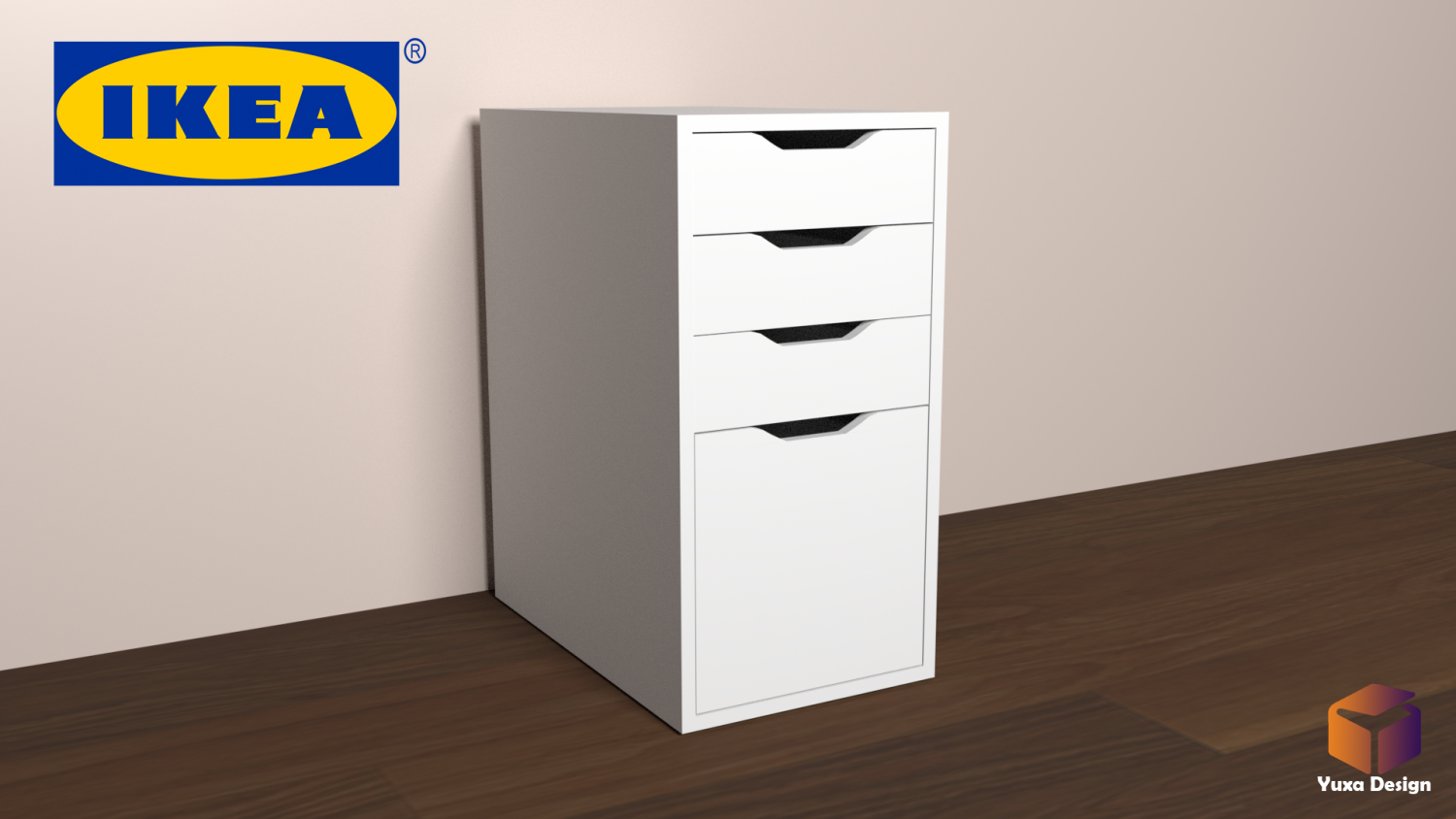 Ikea Alex Desk Drawer Unit - Drop File Storage 3333D Model in Desk 3333DExport