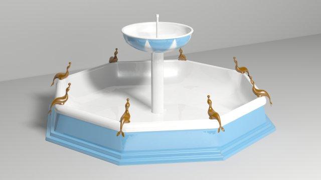 Как сделать фонтан на макете