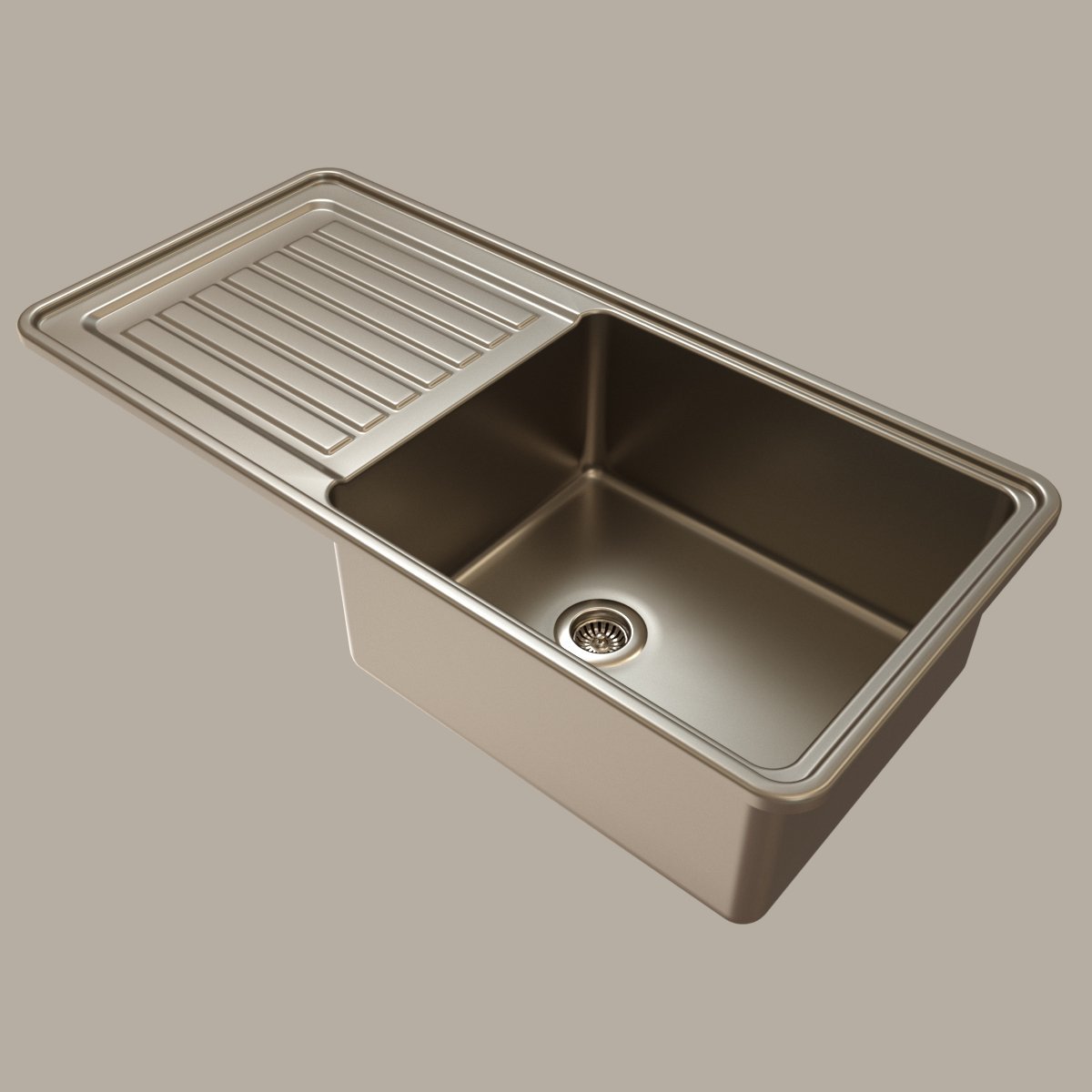 Stainless steel kitchen sink 3D Model in Cookware Tools 3DExport