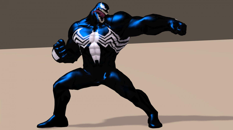Venom From Marvel C of C Poser Rigged 3D Model in Cartoon 3DExport