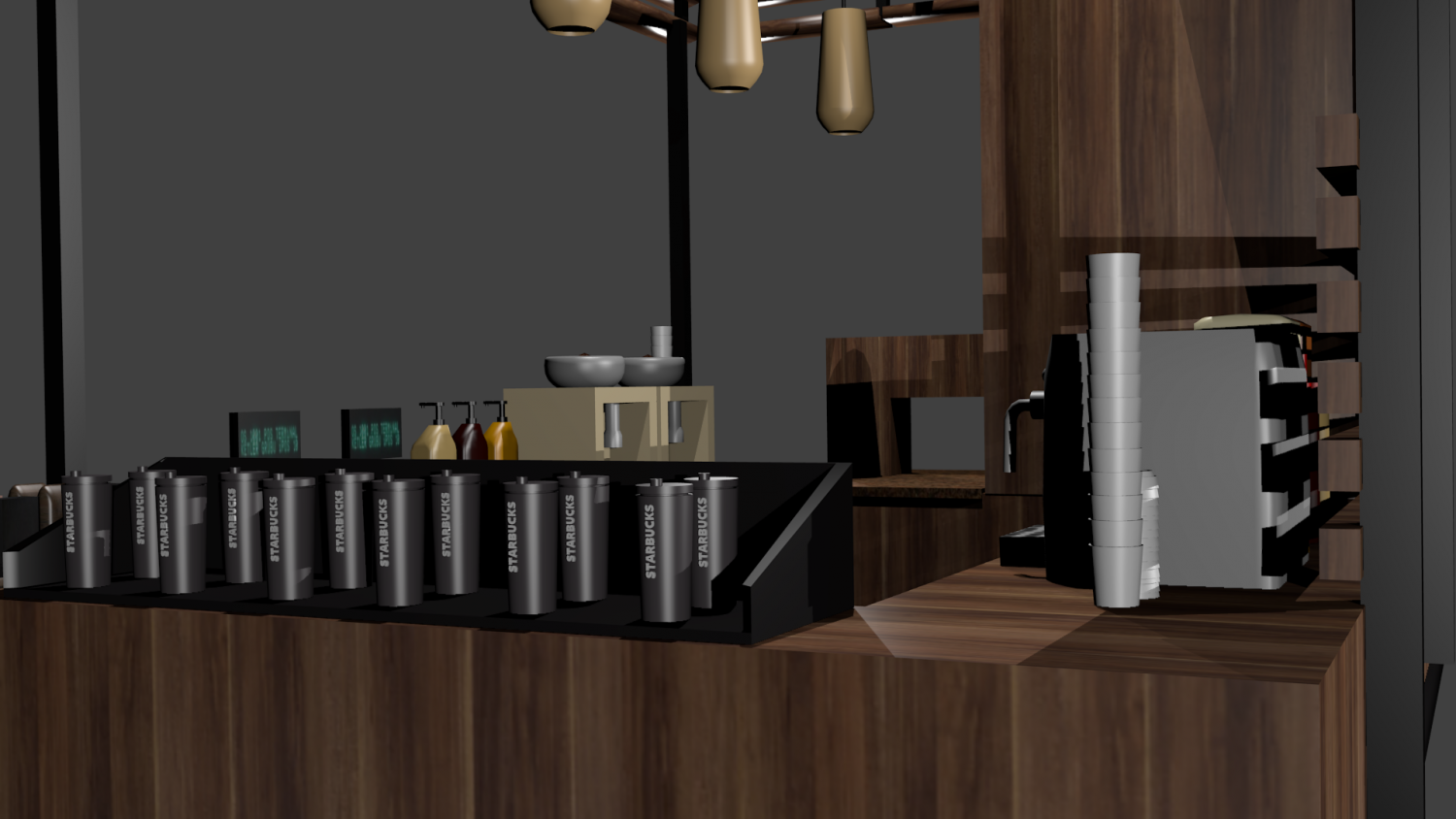 Starbucks Kiosk 3D Model in Store Spaces 3DExport