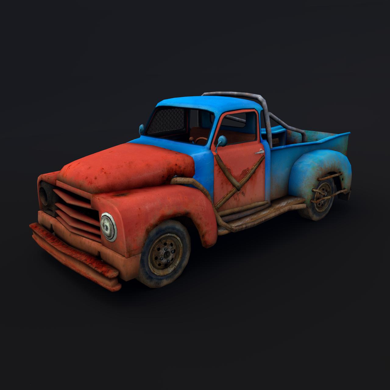 Old rusty pickup truck 3D Model in SUV 3DExport