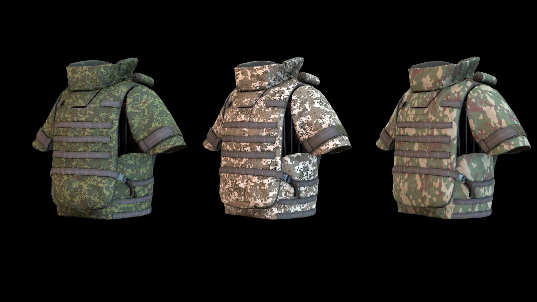 Body Armor 3D Model in Armor 3DExport