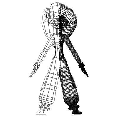 Female Cartoon Character 01 Free 3d Model In Woman 3dexport