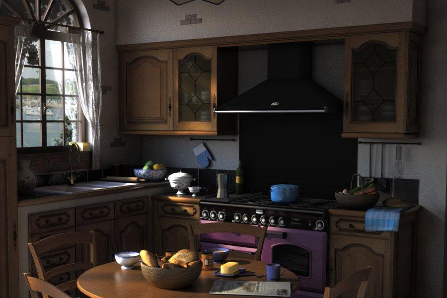 Traditional Kitchen 3D Model in Kitchen 3DExport