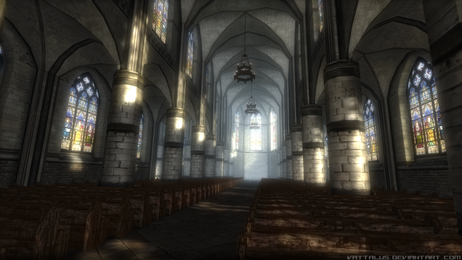 Gothic Church INTERIOR And EXTERIOR 3D Model In Buildings 3DExport