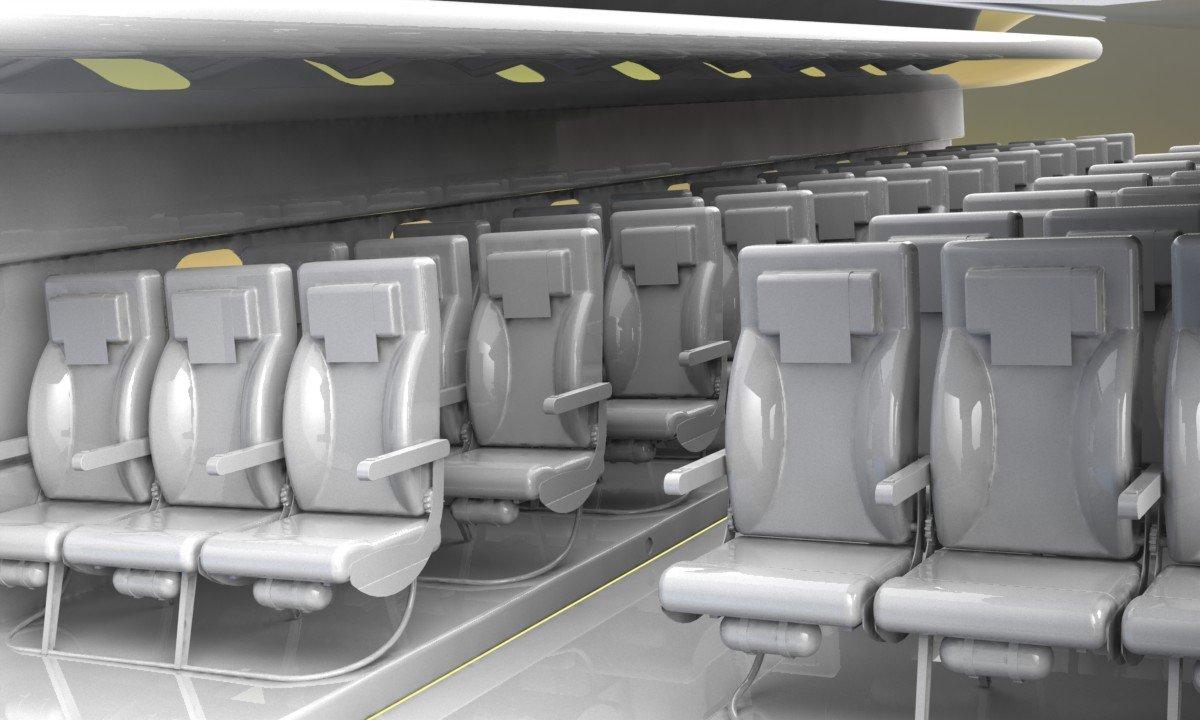 AIRCRAFT SEAT 3D Model in Parts 3DExport