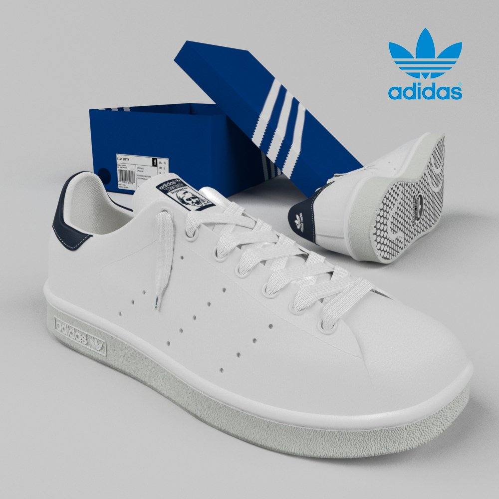 sports shoes e23b5 e6606 Stan Smith by Adidas Originals 3D-Modell in Andere 3DExport