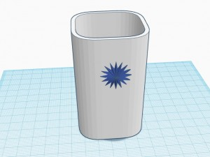 Glass for pencils 3D Model