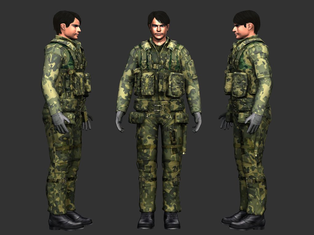 Spes fbx iClone standard character 3D Model in Man 3DExport