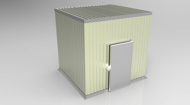 Cold Room Modello 3D in Contenitori di spedizione 3DExport