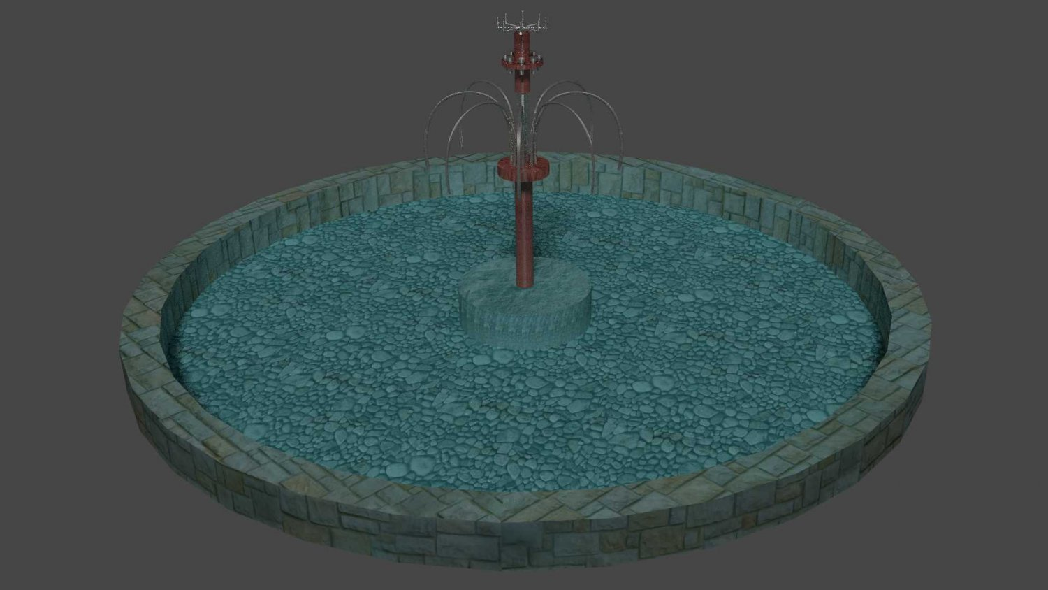 Small fountain Free 3D Model in Cityscapes 3DExport