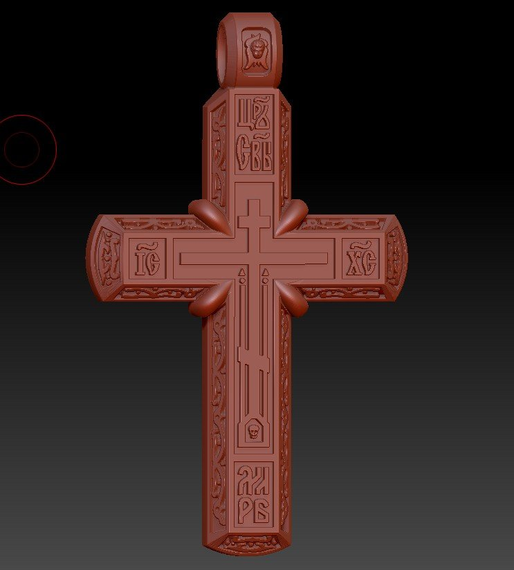 Orthodox cross pendant free 3d model in jewellery 3dexport aloadofball Gallery