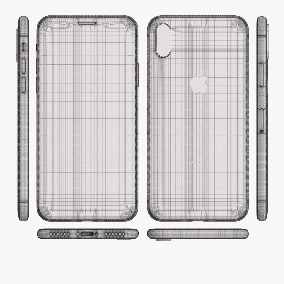 apple iphone x 3d model c4d max obj fbx ma lwo 3ds 3dm stl 1802877 o