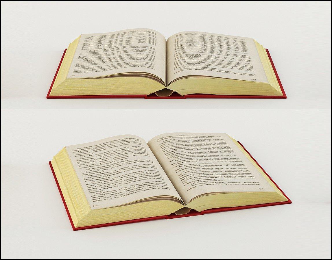 open book 3d model in miscellaneous 3dexport
