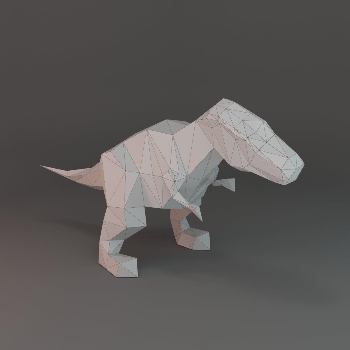 Low-poly T-rex 3D Model in Dinosaur 3DExport