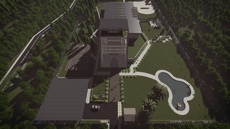 3D modeling factory by revit 3D Model in Buildings 3DExport