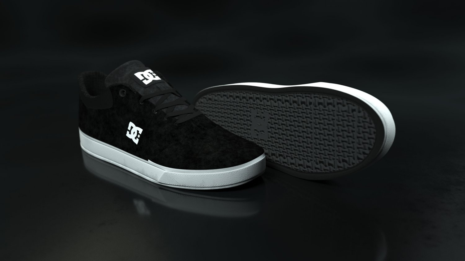 9c684aefc6 Realisitc DC Shoes Crisis - Black 3D Model in Clothing 3DExport