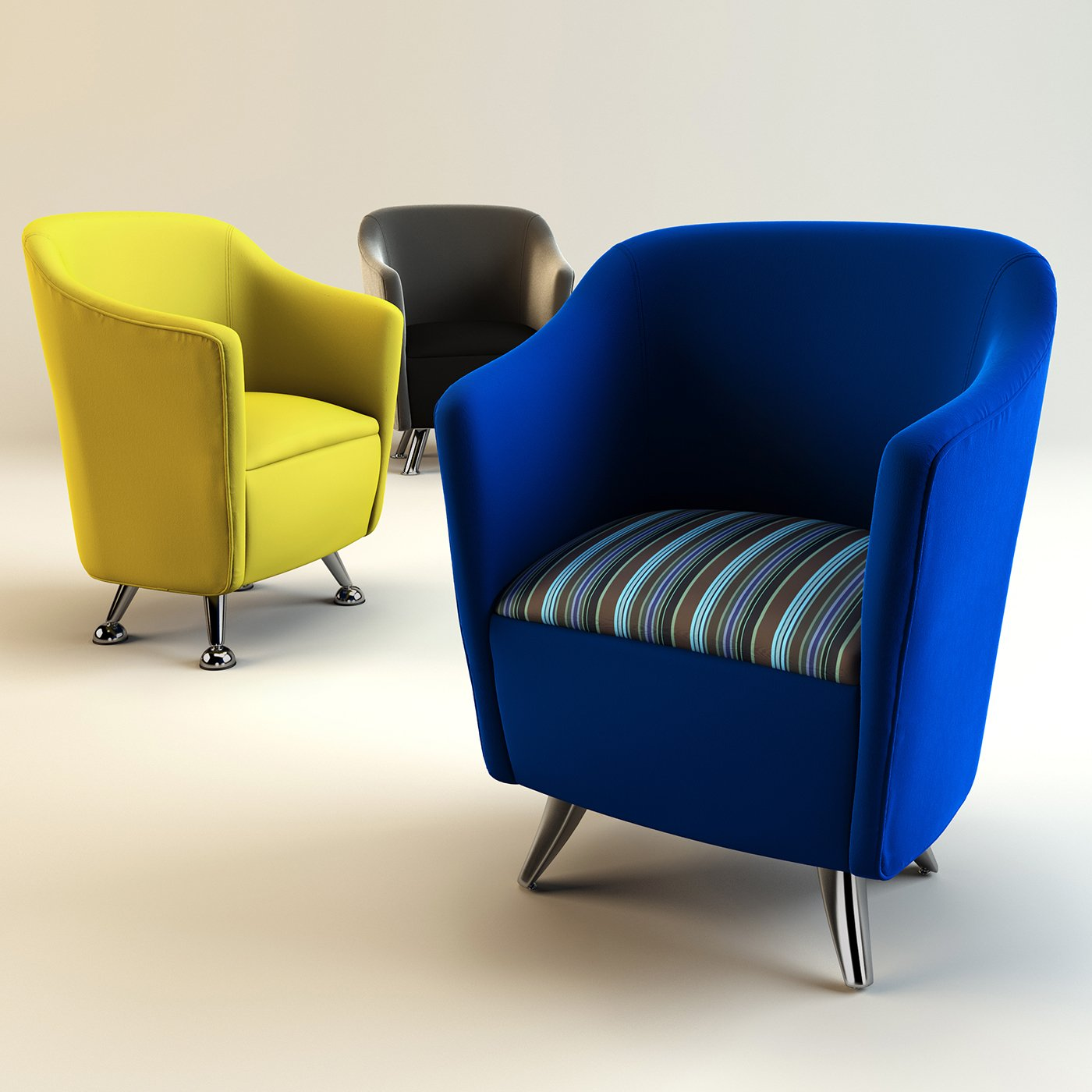 Solace tub chairs 3D Model in Chair 3DExport