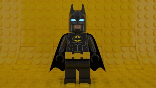 LEGO batman minifigure 3D Model in Fantasy 3DExport