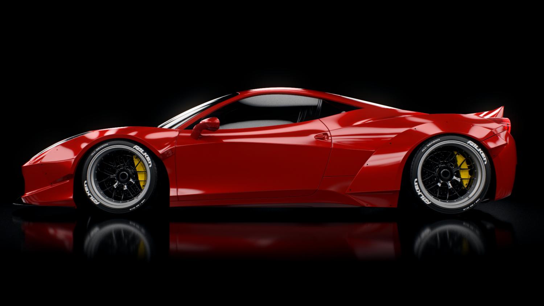 100 Ferrari 458 Liberty Walk Tux Auto Lb
