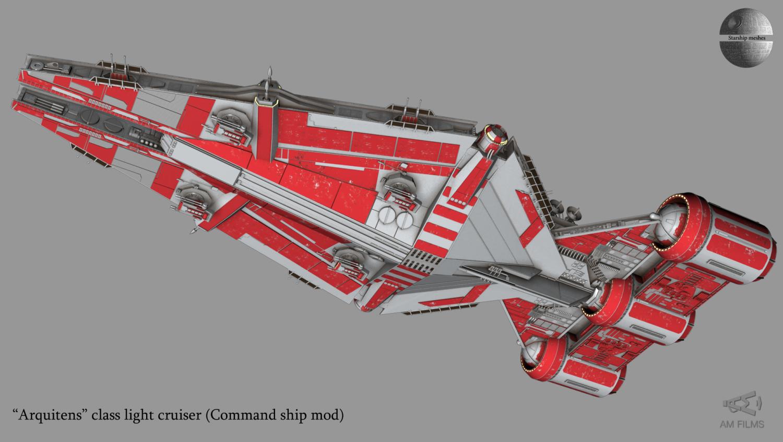 Arquitens Class Light Cruiser 3d Model In Fantasy Spacecraft 3dexport