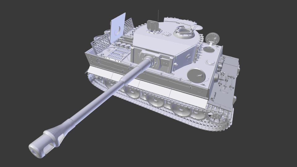Tiger Tank 3D Model in Game Accessories 3DExport
