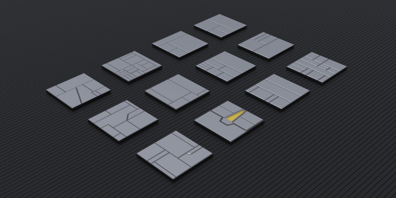 Sci-Fi Panel Kitbash 3D Model in Parts 3DExport