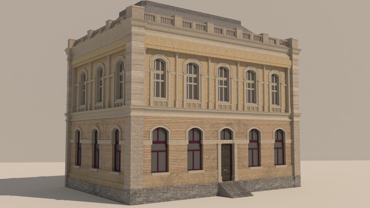 House In Neo Renaissance Style 3D Model Buildings 3DExport