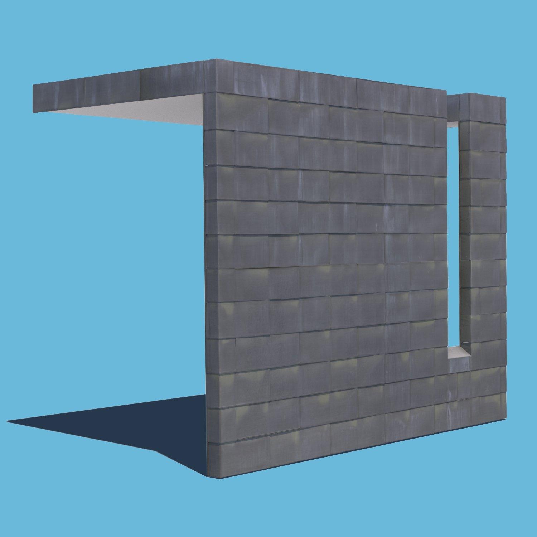 Metal Tiled Wall 3D Model in Miscellaneous 3DExport