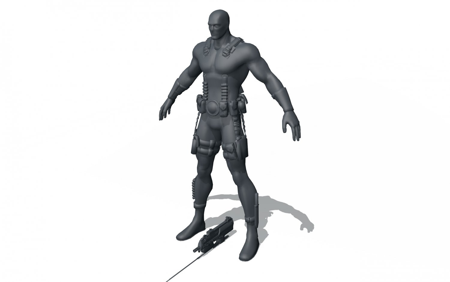 Deadpool Free 3d Model In Anatomy 3dexport