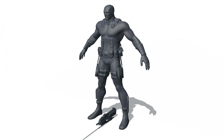 Deadpool Free 3D Model in Anatomy 3DExport