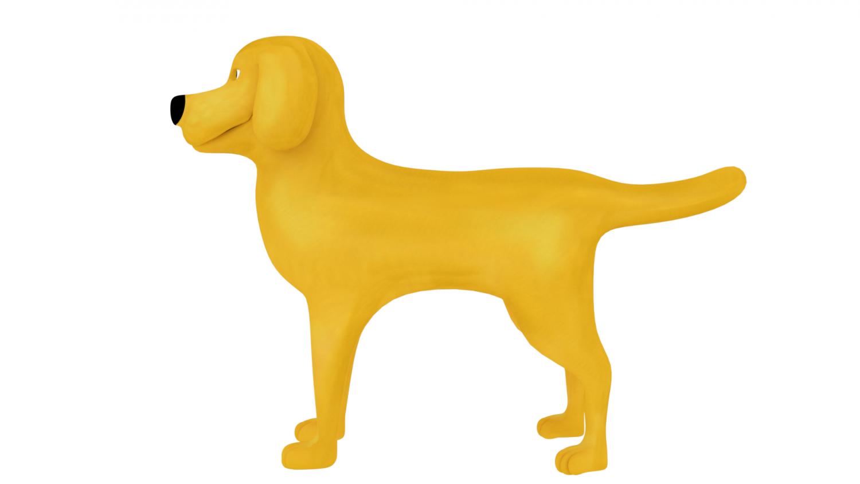 Car Window Sticker Golden Retriever Dog Sign Decal V02 Assistance Dog on Board