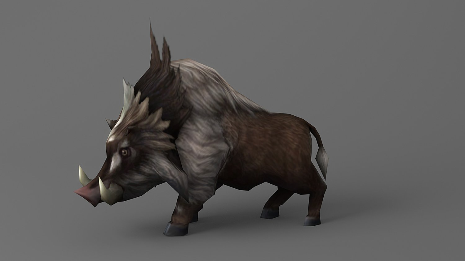 Wild boar Rigged Animated 3D Model in Pig 3DExport