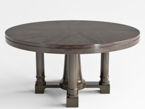 Bernhardt Sutton House Round Dining Table Top And Bas 3D Model